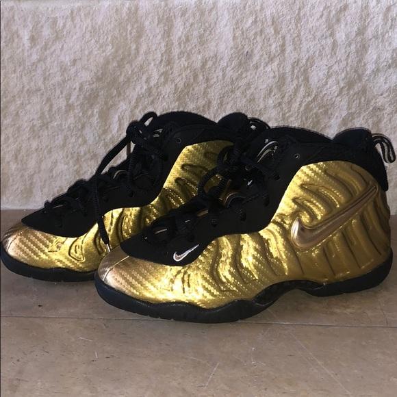 Nike Gold Boys Limited Edition Metallic